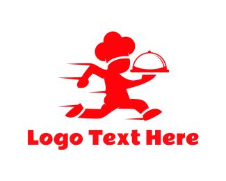 Run - Chef Race logo design