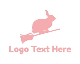 Witch - Brrom & Bunny logo design