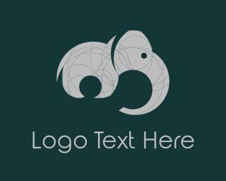 Tail - Grey Elephant  logo design