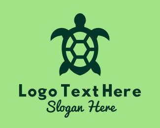 Sea - Green Sea Turtle logo design