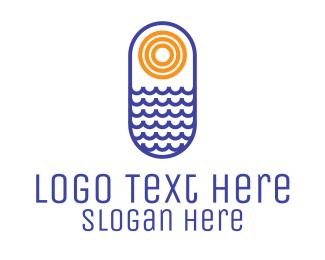 Icon - Ocean Sun logo design