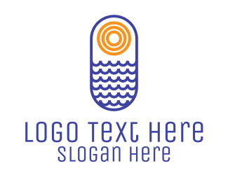 Illustration - Ocean Sun logo design