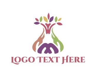 Vase - Colorful Tree logo design