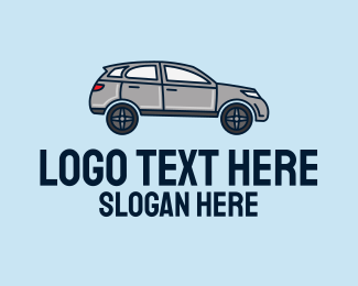 Suv - Grey SUV Car logo design