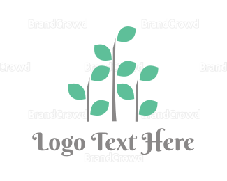 Sprout - Abstract Plant  logo design