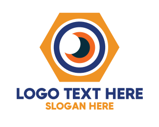 Optical - Hexagon Optical Eye logo design