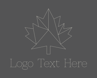 Landscape Architect - Geometric Maple Leaf logo design