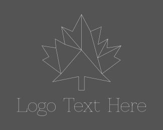 Architect - Geometric Maple Leaf logo design