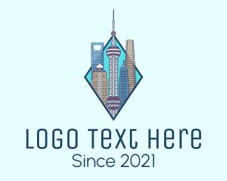 High Rise - Shanghai City Metropolis logo design