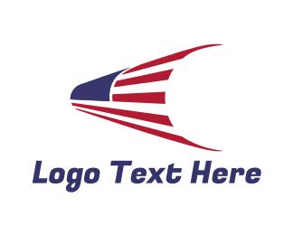 Election - USA Flag Telescope logo design