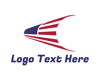 Telescope - USA Flag Telescope logo design
