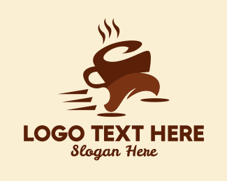 Instant Coffee - Coffee Cup Run logo design