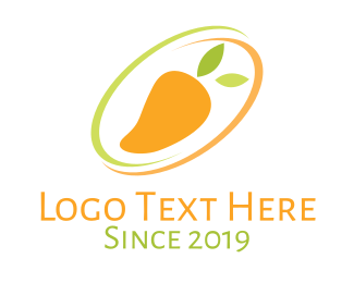 Juice Shop - Mango Fruit  logo design
