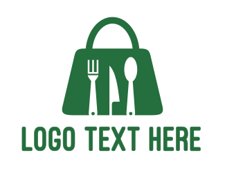 Vegan Food - Green Bag Restaurant  logo design