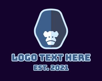 Ape - Blue Gorilla Mascot  logo design