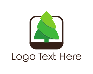3d - Pine Tree logo design