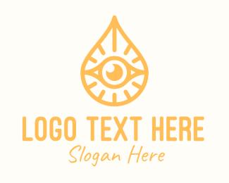 Eye - Golden Egyptian Eye logo design