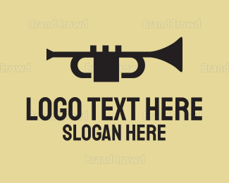 Jazz - Black Trumpet logo design