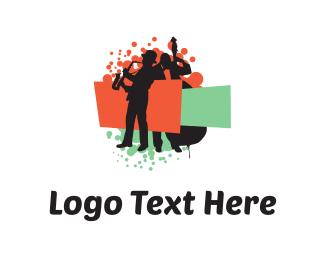 String - Color Musicians logo design