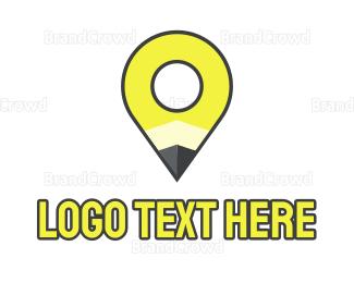 Doodle - Pencil Pin logo design