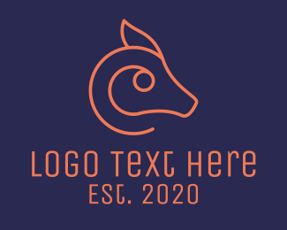 Mule - Minimalist Orange Animal logo design