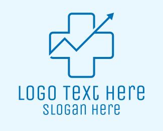 Upward - Medical Chart Cross  logo design