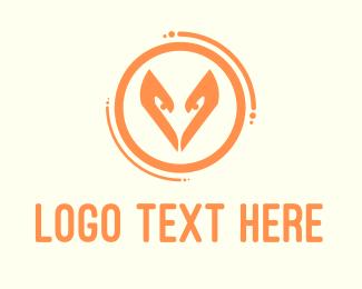 Woodland - Orange Fox Circle logo design