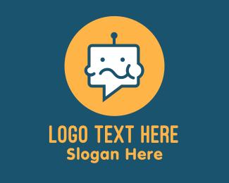 Artificial Intelligence - Eating Chat Robot logo design