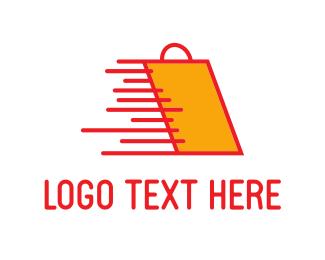 Shopping Bag - Fast Shopping logo design