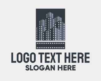 Production Company - Film Tower Buildings  logo design