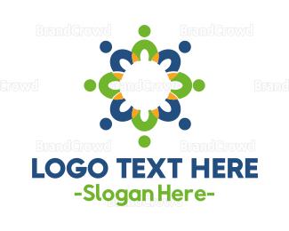 Table - Flower Table logo design