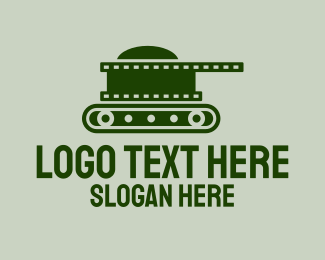 Documentary - War Tank Film logo design