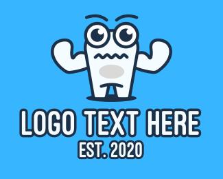 Strong - Strong Tooth Mascot logo design