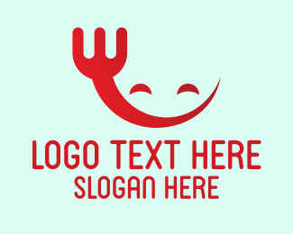 Happy - Happy Red Fork logo design