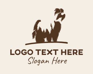 Terrier - Shaggy Dog Grooming logo design