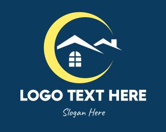 Property - Night Time Property logo design