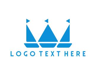 Canoe - Royal Boats logo design