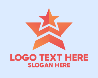 Advertising Agency - Orange Double Star  logo design
