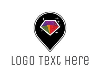 Pin - Colorful Diamond logo design