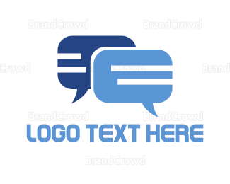Snapchat - Blue Chat logo design