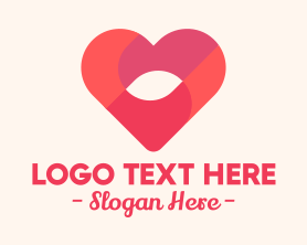 Date - Love Heart logo design