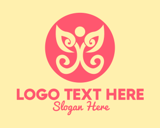 Holistic - Fancy Social Butterfly logo design