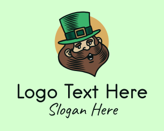 Saint Patrick - Happy Leprechaun logo design
