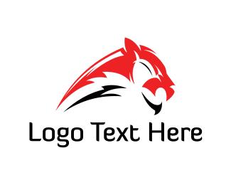 Panther - Red Tiger logo design