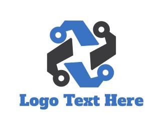 Wire - Tech Circuit logo design