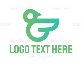 Infant - Bird Letter G Monogram logo design