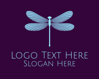 Fairy - Blue Dragonfly logo design