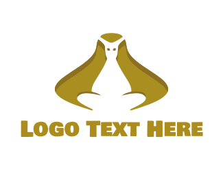 Brown Kangaroo - Golden Kangaroo logo design