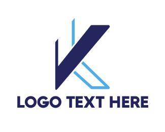Drafting - Abstract Geometric K logo design