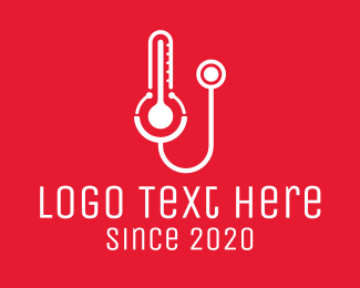 Checkup - Temperature Check Up logo design